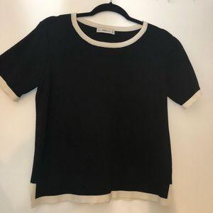 Zara black short sleeved sweater